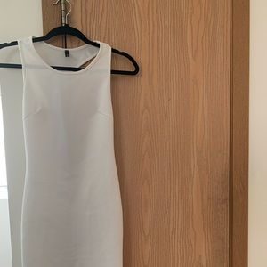 White bodycon dress with back cut out